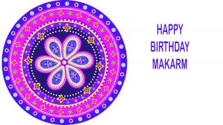 Makarm   Indian Designs - Happy Birthday