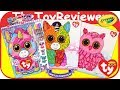 TY Beanie Boo Sketch Portfolio Color Babies Coloring Markers Unboxing Toy Review by TheToyReviewer