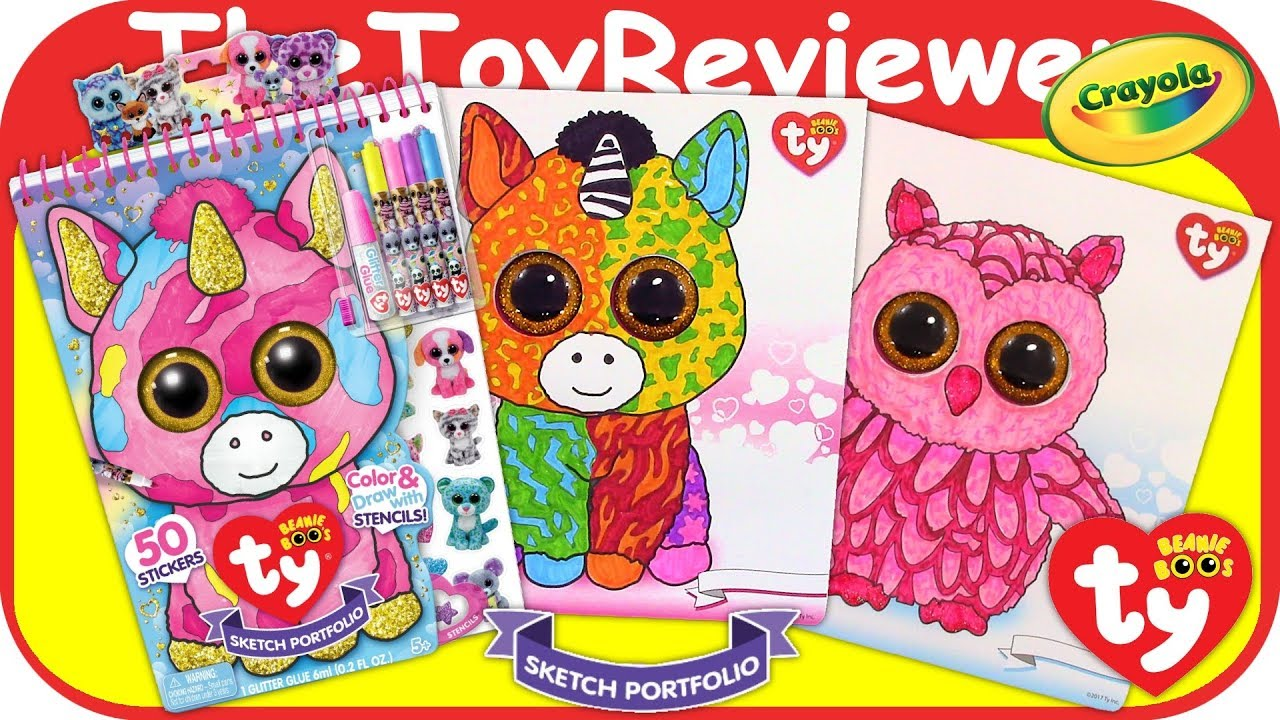- TY Beanie Boo Sketch Portfolio Color Babies Coloring Markers