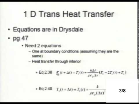 MATLAB Heat Transfer Class - Fire Science Tools
