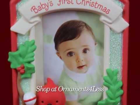 Hallmark Keepsake Ornament 2013 Babys First Christmas Frame Shop