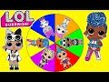 Jelly Layer LOL Surprise Dolls Real or Fake - Spin the Wheel Toy Game Show