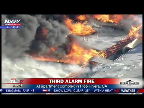 MASSIVE APARTMENT FIRE: In Pico Rivera, CA claims multiple people's homes (FNN)