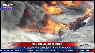 MASSIVE APARTMENT FIRE: In Pico Rivera, CA claims multiple people