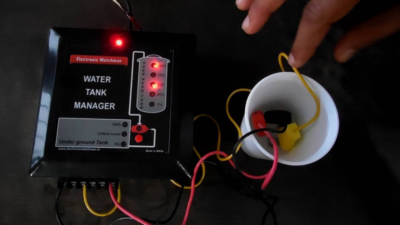 Automatic Water Level Controller To Turn Pump On Off Based Switch Circuit In Tank