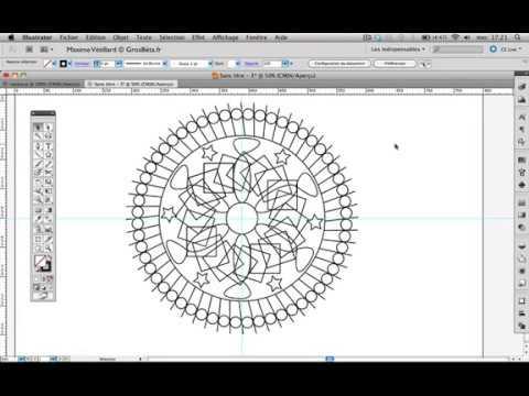 Tutoriel Video Creer Un Mandala Avec Adobe Illustrator Youtube