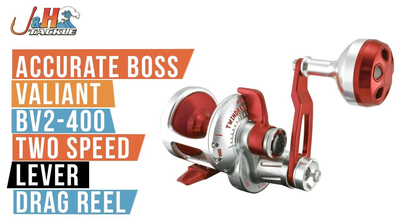 366a54d6d1b Accurate Boss Valiant BV2-400 Two Speed Lever Drag Reel   J&H Tackle ...