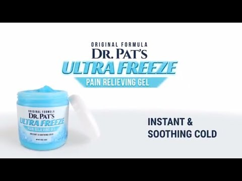 Pain Relief Cream by Dr. Pat Topical Analgesic Gel Icy and Hot Therapy Muscle & Arthritis Pain