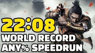 WORLD RECORD Sekiro Any% Speedrun in 22:08
