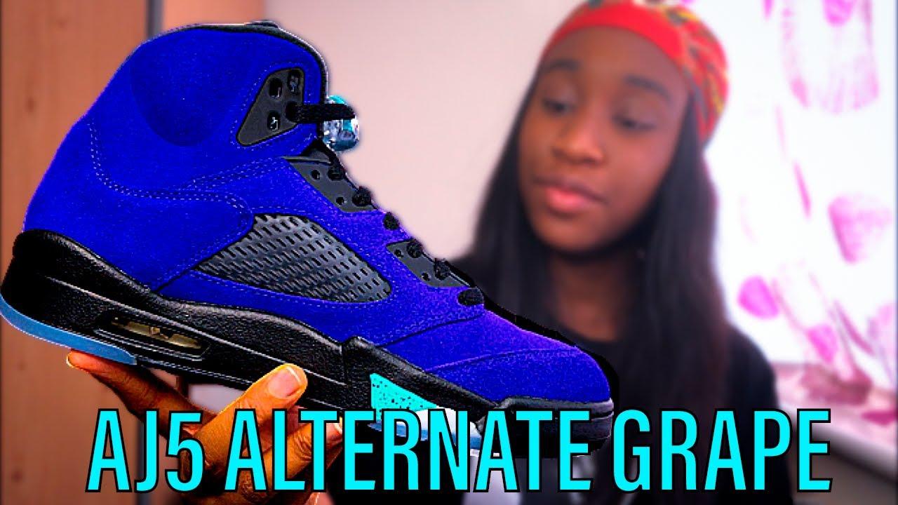 Air Jordan 5 Alternate Grape| Unboxing & On foot Review!