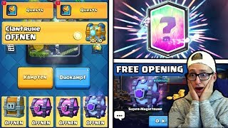 Ich predicted richtige LEGENDARY! MEGA FREE CHEST OPENING! Clash Royale Deutsch CR Kevgo around