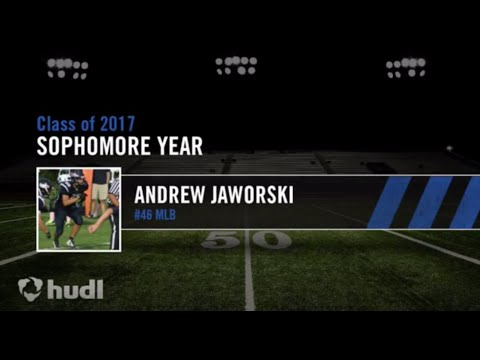 Andrew Jaworski - Wilmington Friends School #46 (Sophomore Year Football Highlights)