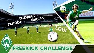 Freistoß Challenge 1: Zlatko Junuzovic | Thomas Delaney | Niklas Schmidt | Loui Eta