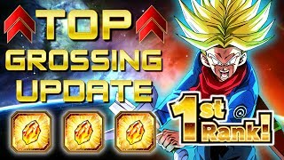 FREE STONES FOR GLOBAL! TOP GROSSING ACHIEVED! | Dragon Ball Z Dokkan Battle