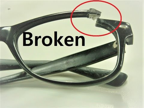 Repair Broken Eyeglasses frame at home | how to repair scratched eyeglass