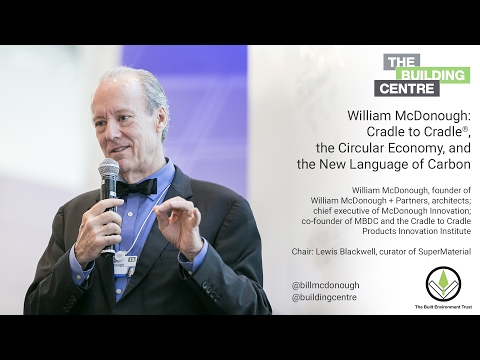 William McDonough at The Building Centre in London