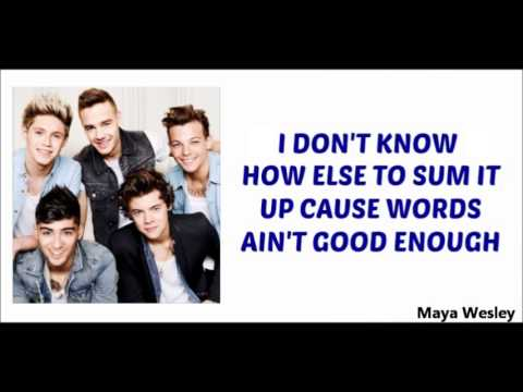 One Direction - Better Than Words (Lyrics and Pictures) (Album Midnight Memories)