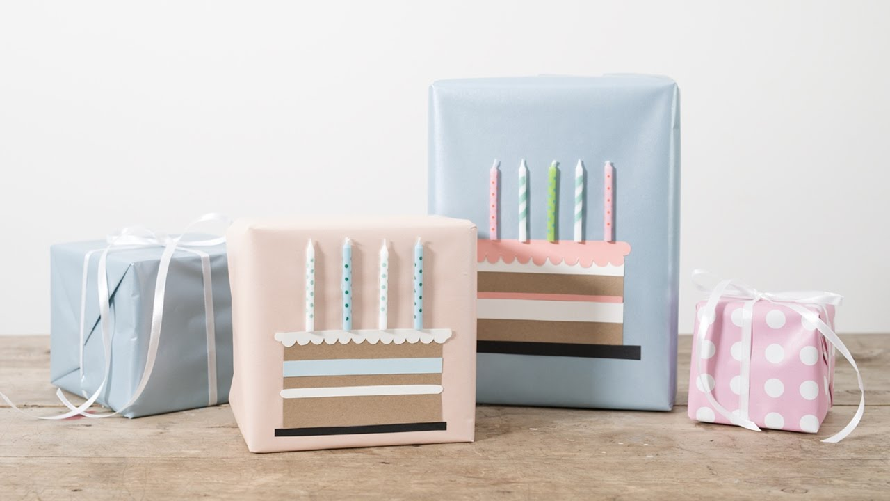 DIY Gift Wrapping Idea For Birthdays By Sstrene Grene