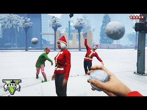GTA 5 Next-Gen: SNOWBALL FIGHT!!! - GTA 5 SNOW RACES - GTA 5 Funny Moments PS4 - GTA Snow Gameplay