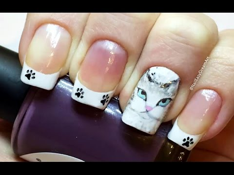 Кошки на ногтях дизайн