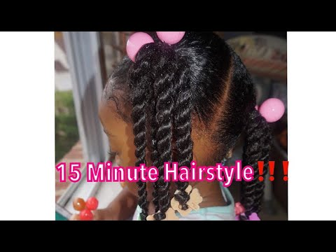 African American Toddler Easy Ponytails And Twist Youtube