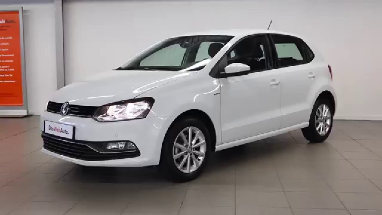 volkswagen polo occasion 1 2 tsi 90 bluemotion technology blanc s rie lounge 2626 youtube. Black Bedroom Furniture Sets. Home Design Ideas
