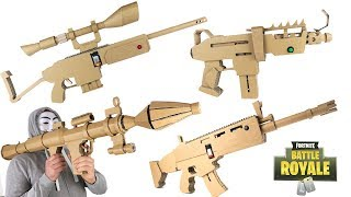 4 Fortnite Projects You Can Make At Home - Sniper, Scar, RPG Rocket Launcher , Submachine