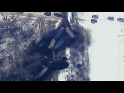 Train derails: 135-car train flies off the tracks in Wisconsin