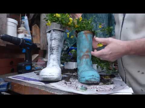 How To Make Your Own Boot Planter Youtube