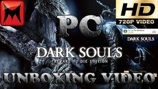 Dark Souls Prepare to Die Edition PC GFWL Retail Version Unboxing Video HD720