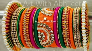 How To Make Beautiful Silk Thread Bangles| chura making | Silk Thread Bangles Set