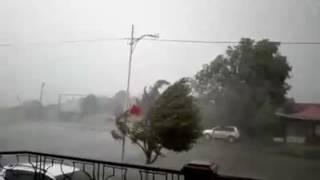 Ураган, сильный ветер в Степанакерте