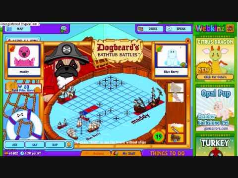Playing BathTub Battles On Webkinz *in Fast Motion*