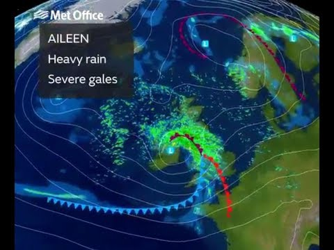 Storm Aileen to batter Britain with 75mph gales and a fortnight's worth of rain due TONIGHT