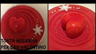 Torta moderna per San Valentino-MODERN CAKE for VALENTINE'S DAY / VELVET TEXTURE