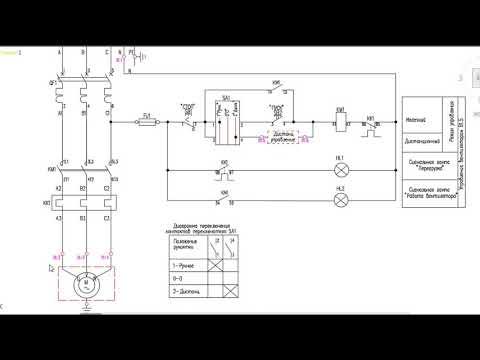 Как научиться читать электрические схемы. Схема управления магнитным пускателем.