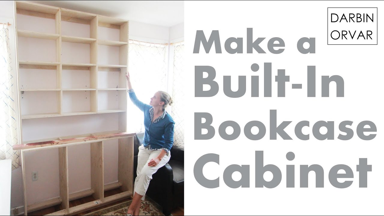 Built-In Bookcases & Cabinet Construction - YouTube