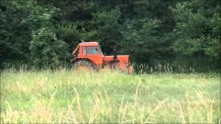 Koszenie trawy 2014 MTZ 82 - awaria kosiarki