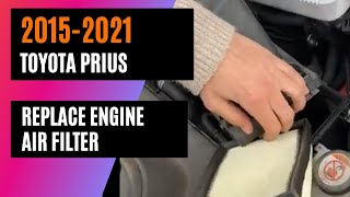 2015-2021 Toyota Prius - Replace Engine Air Filter - Girlie Garage