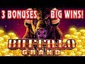 AMAZING 3 BONUSES IN A ROW! ★ BIG WIN ★ BUFFALO GRAND ★ LIVE PLAY AT THE CASINO