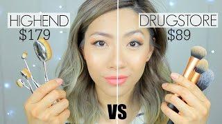 Video BATTLE OF THE MAKEUP BRUSHES! | Highend Artis Brushes vs Drugstore Makeup Brushes - First Impression download MP3, 3GP, MP4, WEBM, AVI, FLV Januari 2018