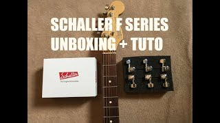 Schaller F Series Locking Tuners Unboxing + Tuto