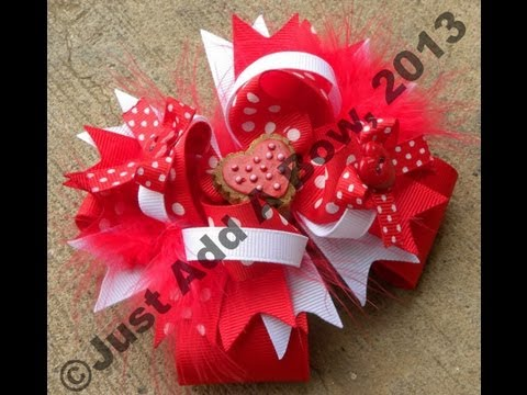 HOW TO: Make a 5 Inch Boutique Stacked Hair Bow by Just Add A Bow