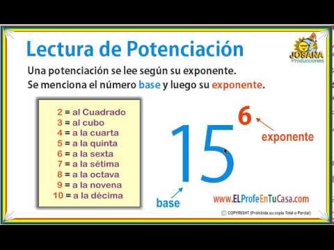 Lectura de Potenciación - Ahroa somos: MatematicaPasoAPaso.com - YouTube