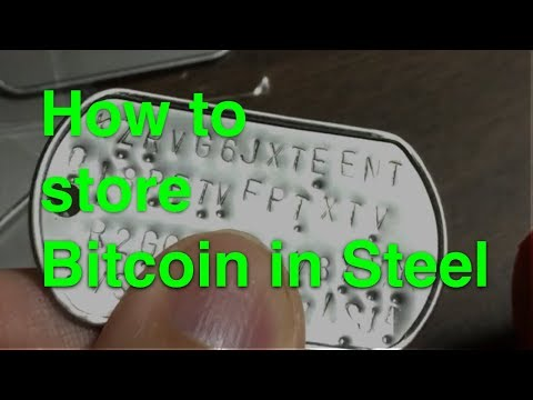 HowTo Store Bitcoins On Stainless Steel Dog Tags