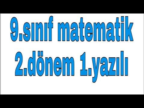 9.sınıf 2.dönem Matematik 1.yazılı