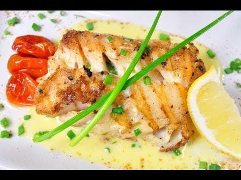 ... เนยต้นหอม Cod with Chive Butter Sauce - YouTube