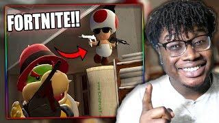 BOWSER JR. GETS A FORTNITE VICTORY! | SMG4: The Mario Mafia Reaction!