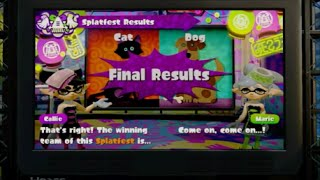 Splatoon - Splatfest! Cats Versus Dogs Results!