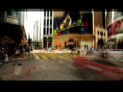 Hong Kong Queens Road Central Time Lapse.avi